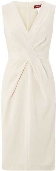 Max Mara Studio Vista Vneck Shift Dress with Belt - Lyst