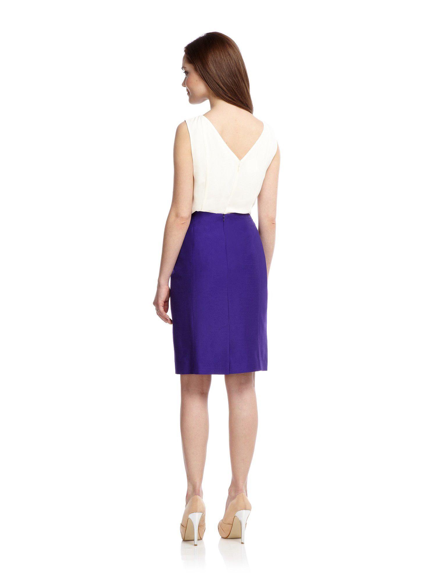 minuet bright purple pencil skirt in purple lyst