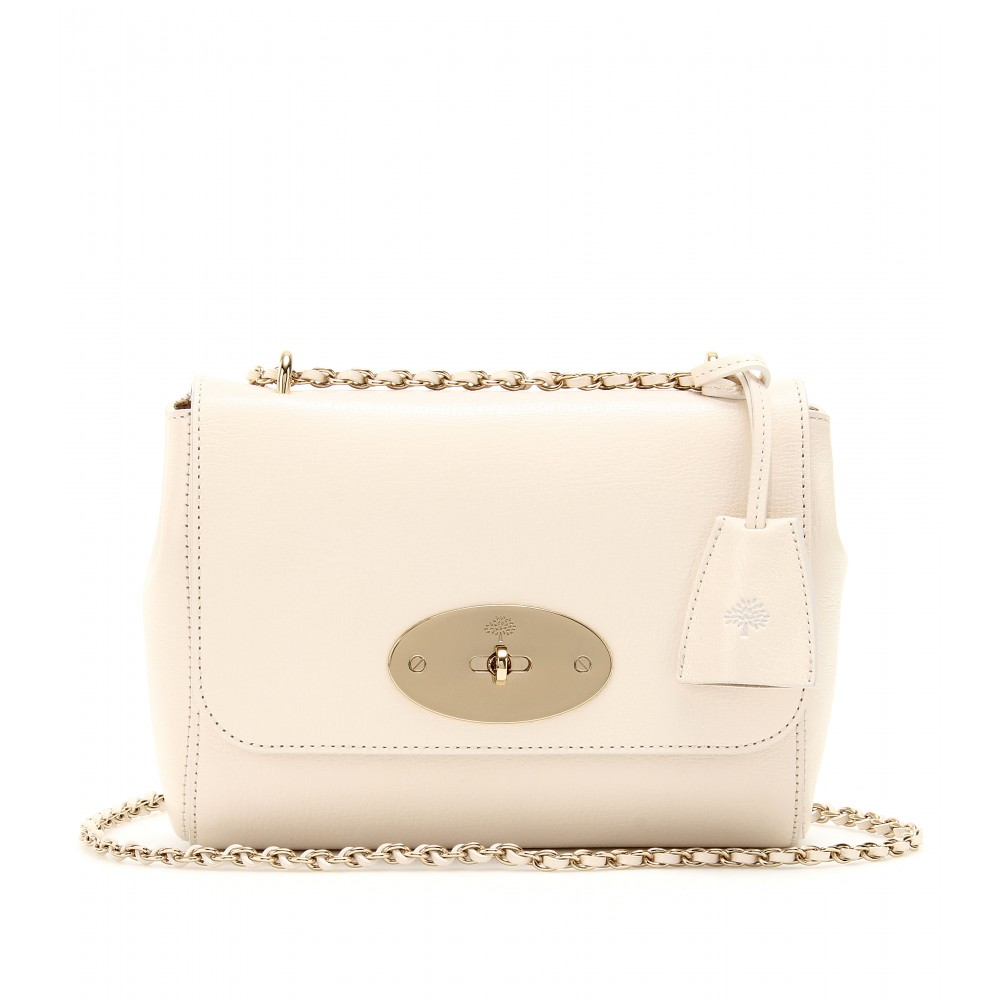 9bf1e05a62 Lyst - Mulberry Lily Grainy Leather Shoulder Bag in Natural