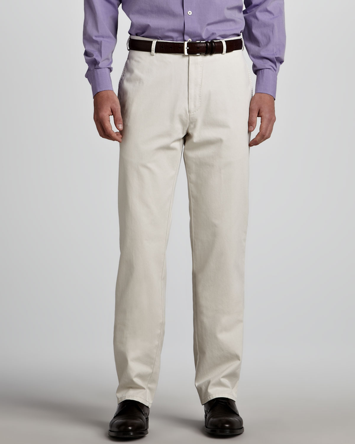 Peter Millar Straight Twill Pants Stone In White For Men