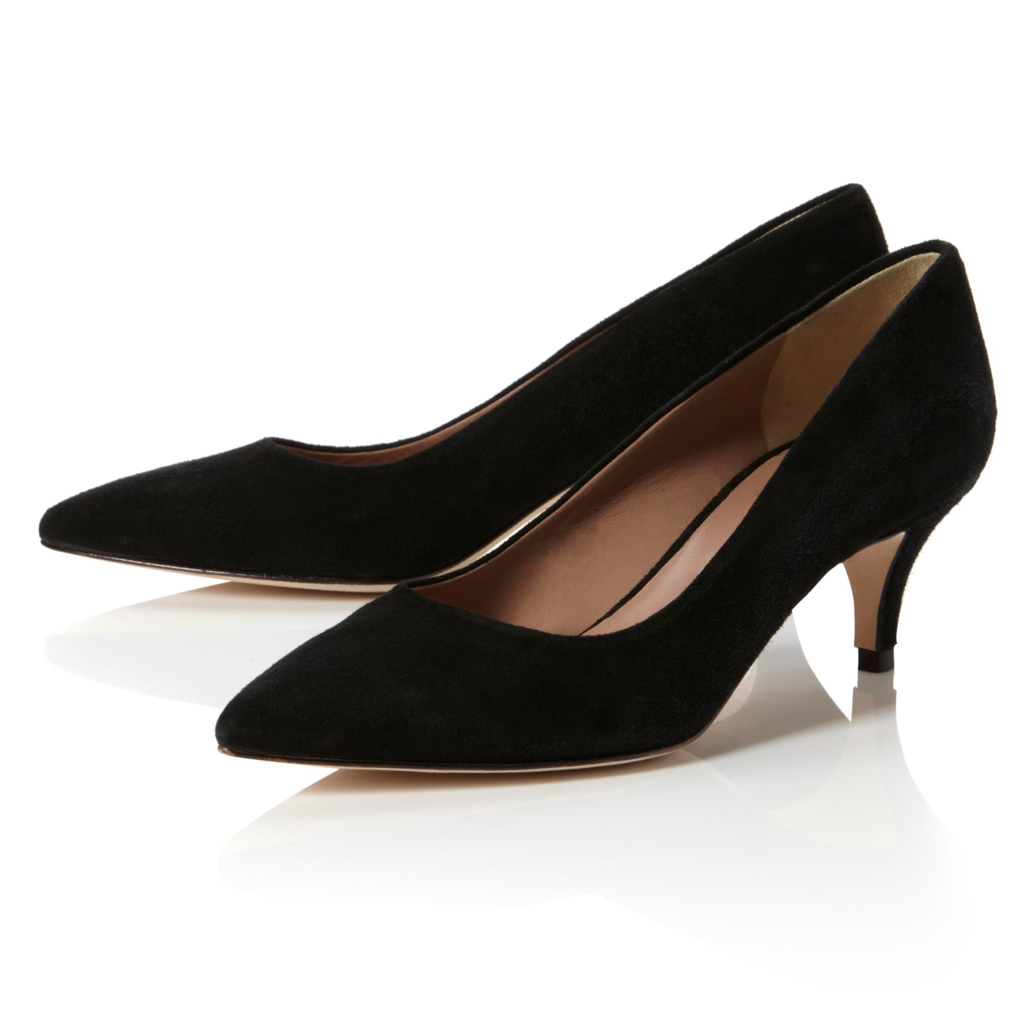 Cheap Black Pointed Court Shoes
