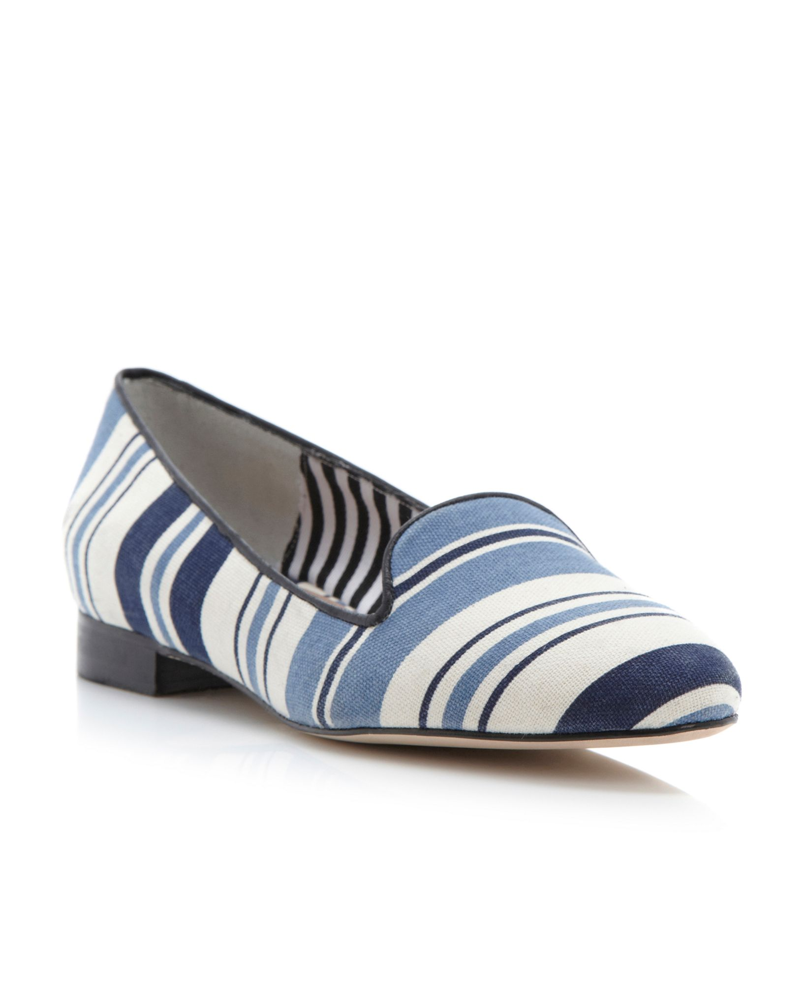Pied A Terre Godda Stripe Slipper Shoes In Blue Navy Lyst