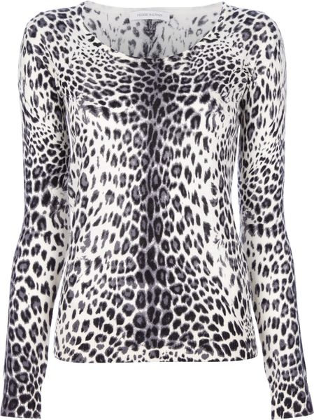 Pierre Balmain Leopard Print Sweater in Animal (leopard)