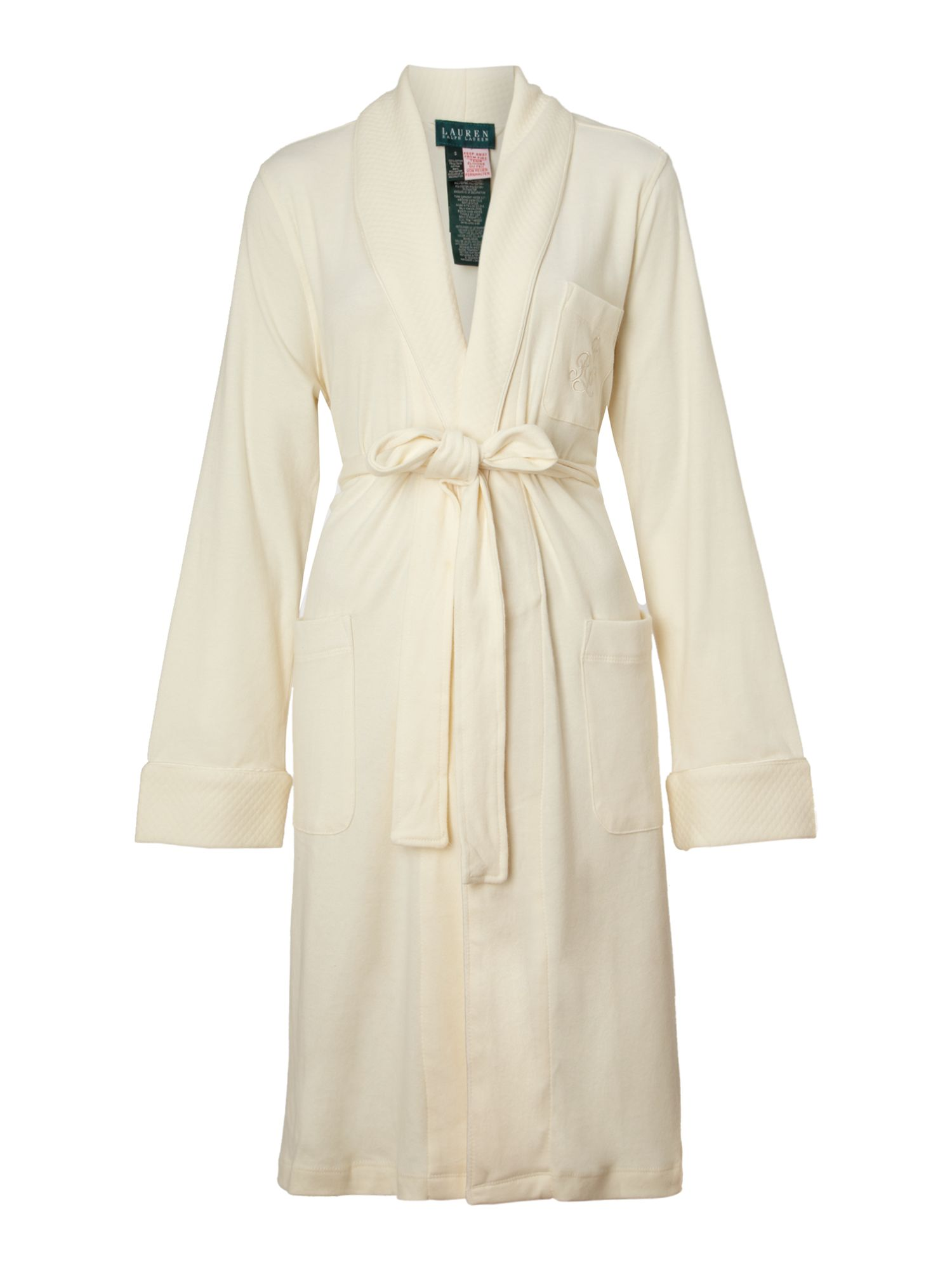 polo ralph lauren hartford lounge shawl collar wrap robe in natural lyst. Black Bedroom Furniture Sets. Home Design Ideas
