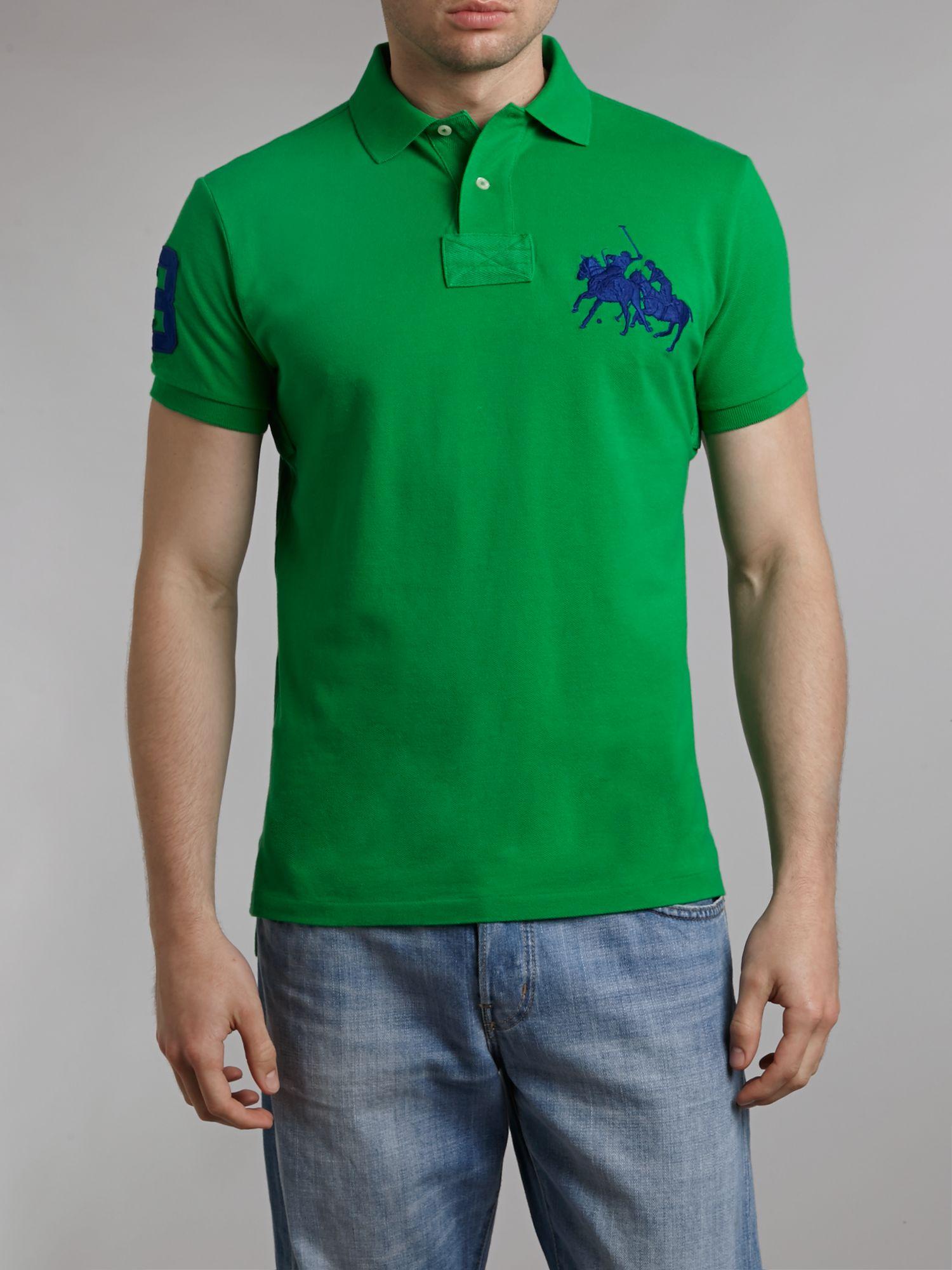 Ralph Lauren Men Classic Dual Mach Green Short Sleeved Polo