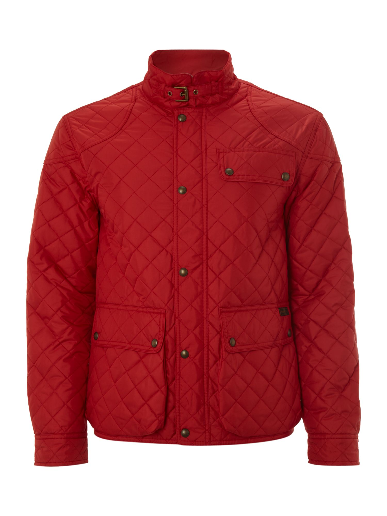 Polo Ralph Lauren Cadwell Quilted Bomber Jacket In Red For