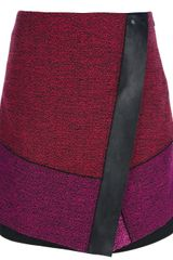Proenza Schouler Colour Block Wrap Skirt - Lyst