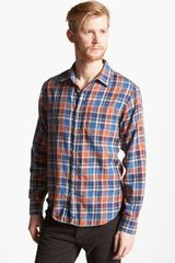 Rag & Bone Beach Herringbone Plaid Woven Shirt - Lyst