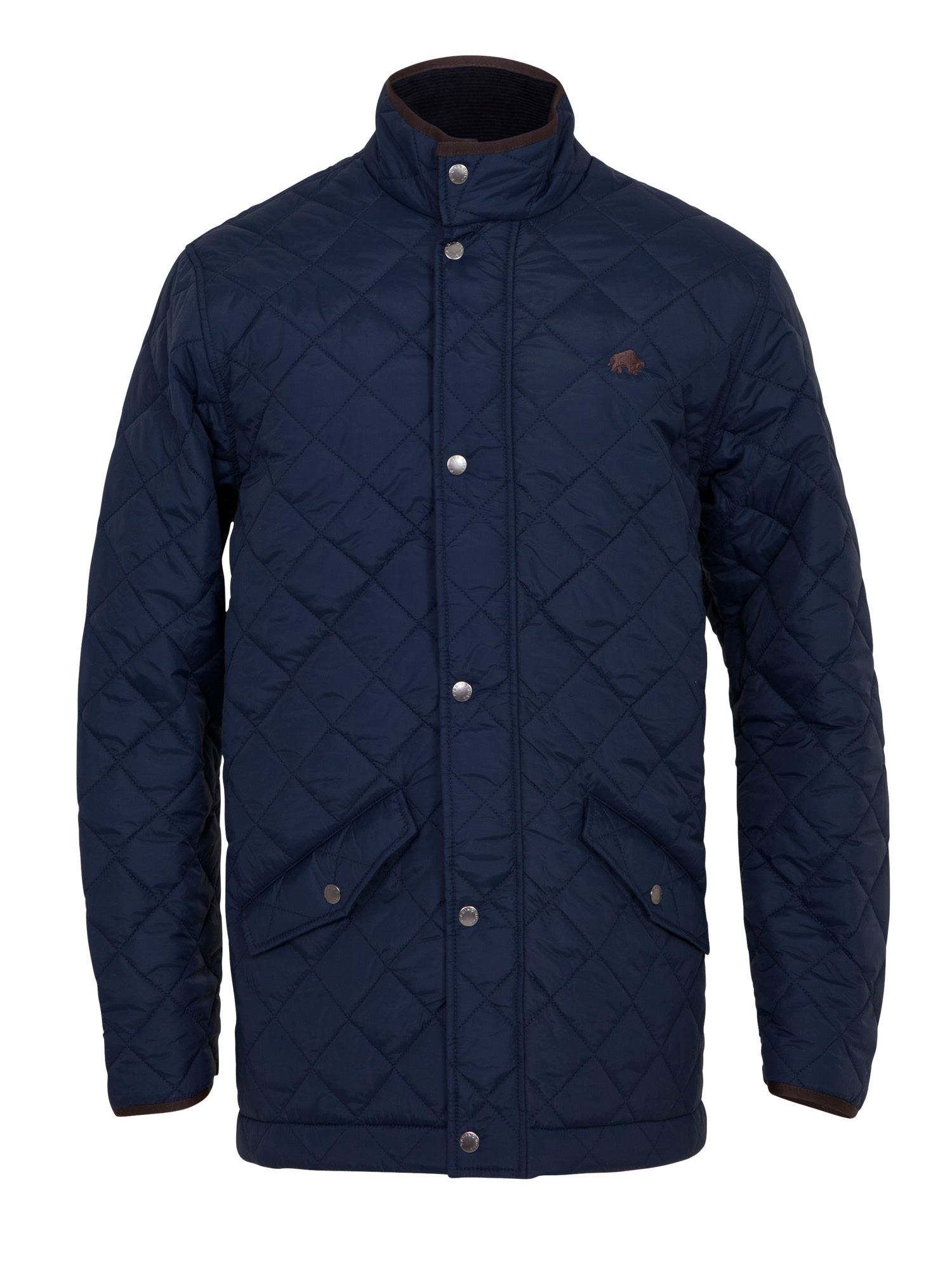 Lyst Raging Bull Quilted Jacket In Blue For Men