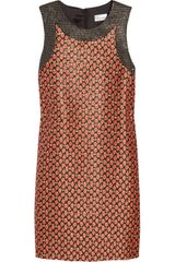 RED Valentino Floral jacquard Mini Shift Dress - Lyst
