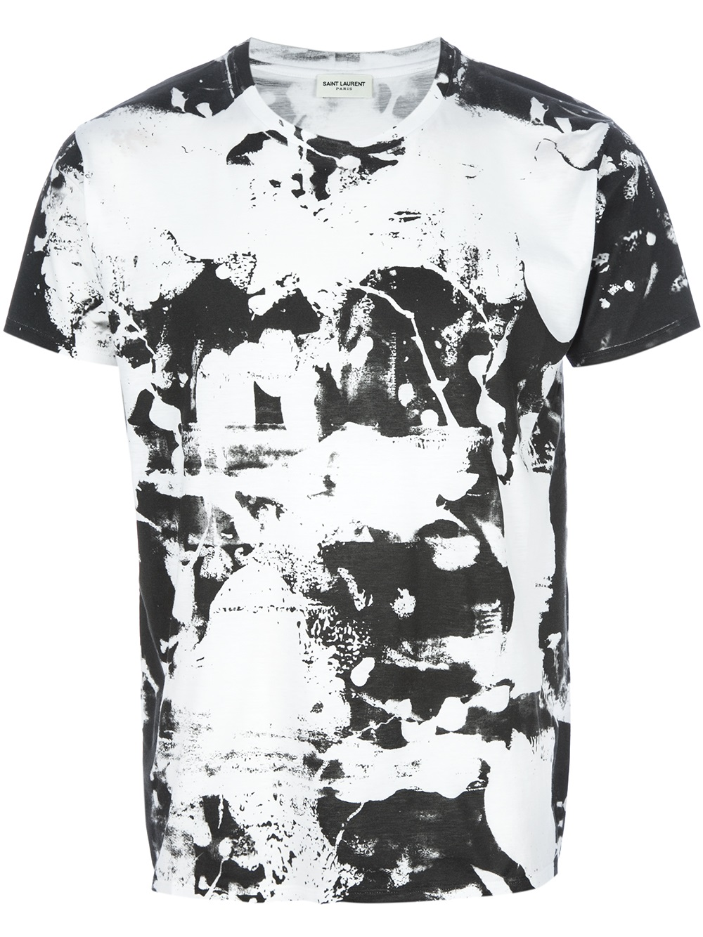 lyst saint laurent monochrome t shirt in white for men. Black Bedroom Furniture Sets. Home Design Ideas