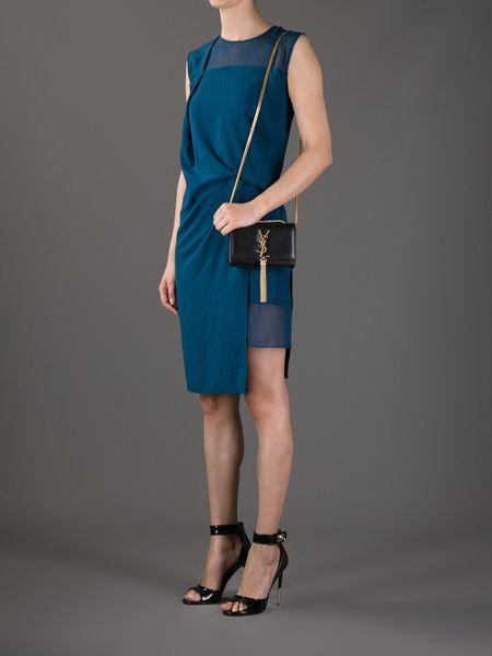 Saint Laurent Cassandre Patent Leather Tassel Shoulder Bag 77
