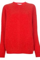 Stella McCartney Ribbed Knit Sweater - Lyst
