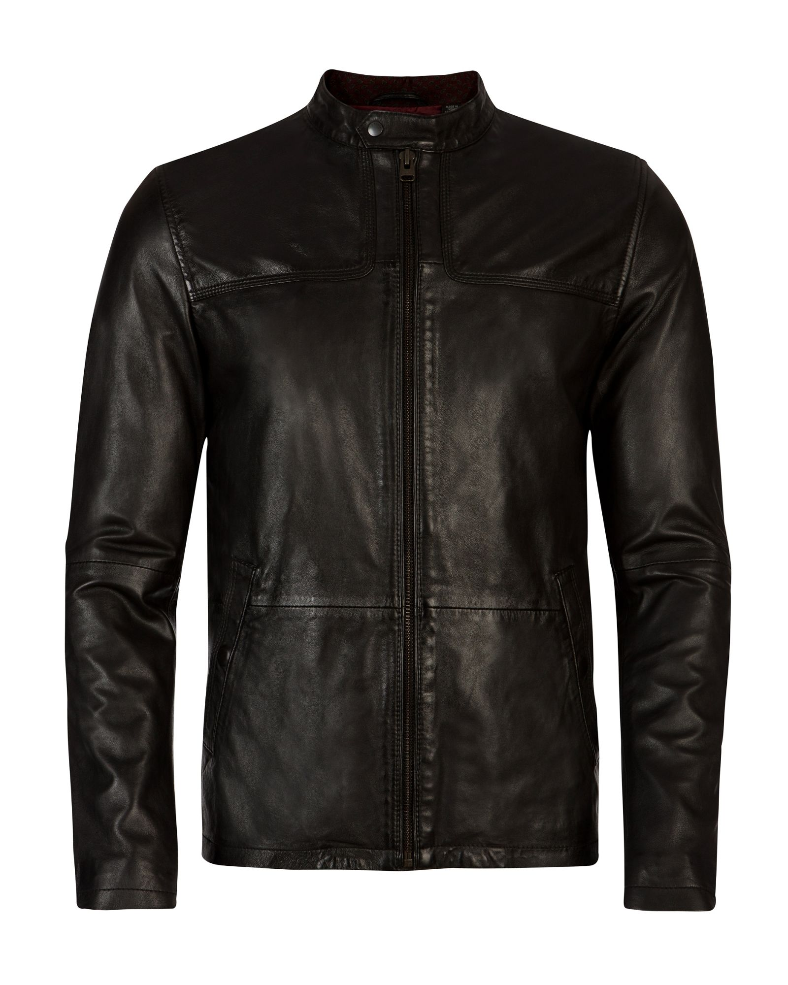f59e010fa Ted Baker Birgin Leather Jacket Black - Cairoamani.com