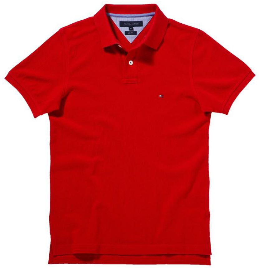 tommy hilfiger slim fit washed polo in red for men lyst. Black Bedroom Furniture Sets. Home Design Ideas