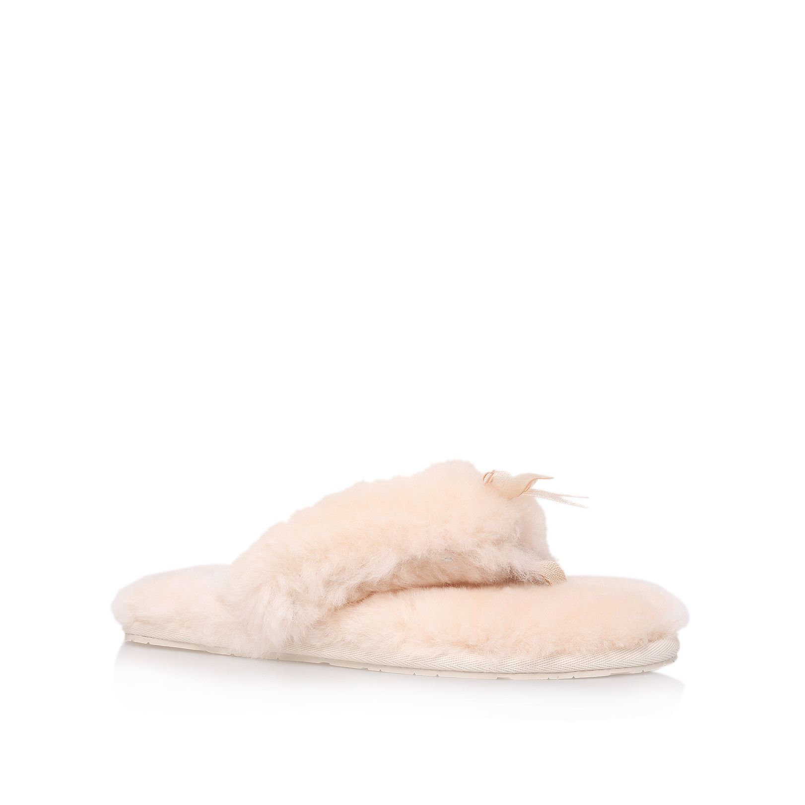 Ugg Fluff Flip Flop Style Slippers in Natural
