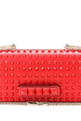 Valentino Rouge Rockstud Leather Shoulder Bag - Lyst