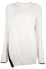 3.1 Phillip Lim Cable Knit Sweater - Lyst