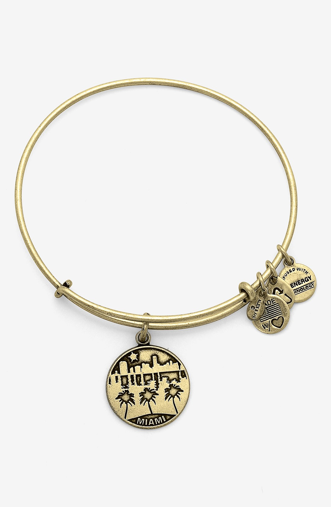 alex and ani miami expandable wire bracelet in gold lyst