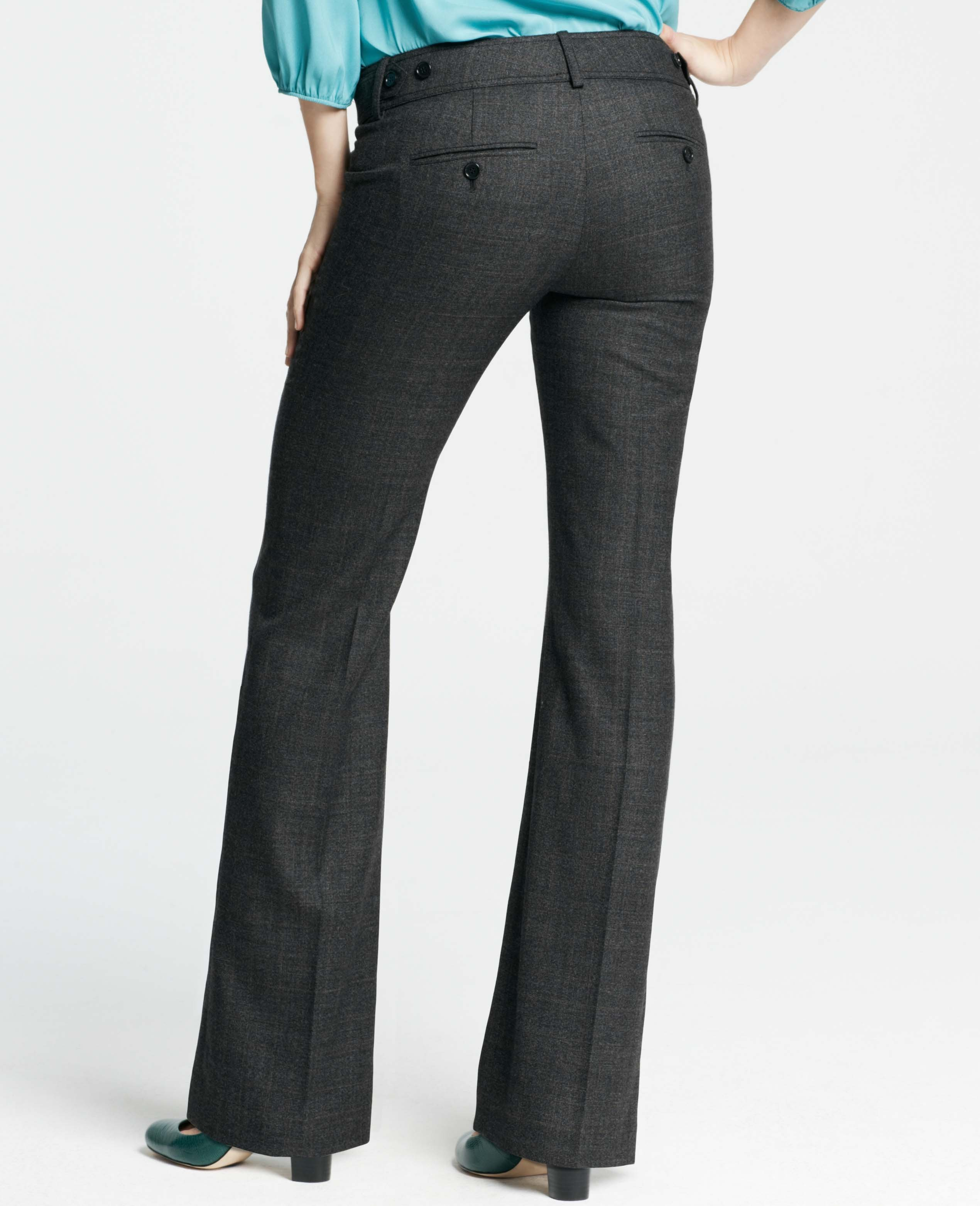 glen plaid cropped trousers - Grey Taylor W67sk