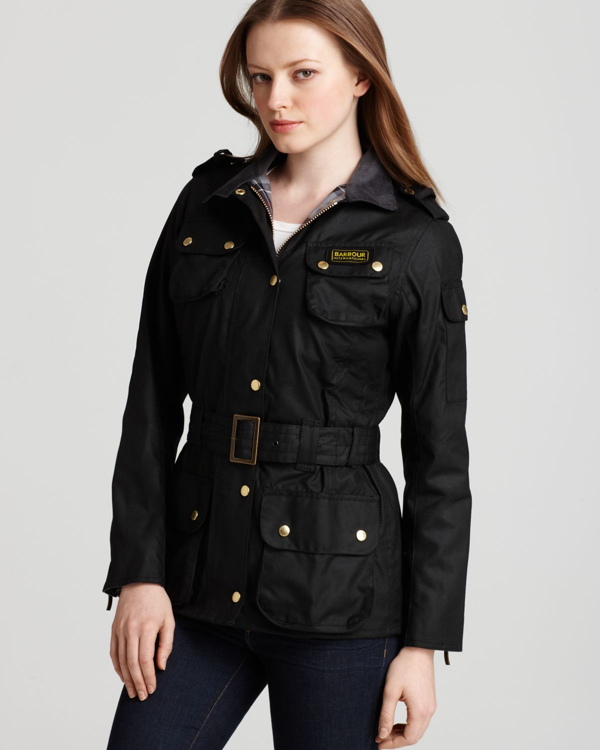Barbour womens international waxed jacket