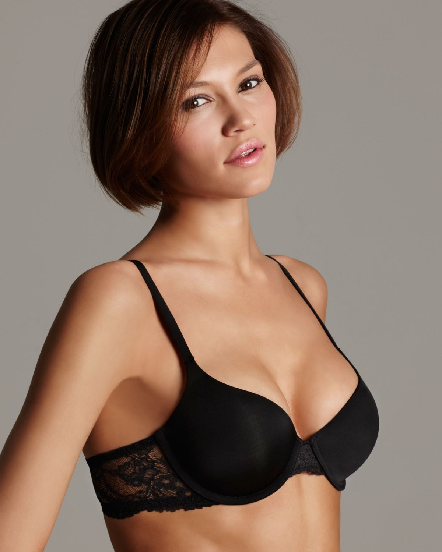eb6c713060 Lyst - Calvin Klein Demi Bra Seductive Comfort in Black