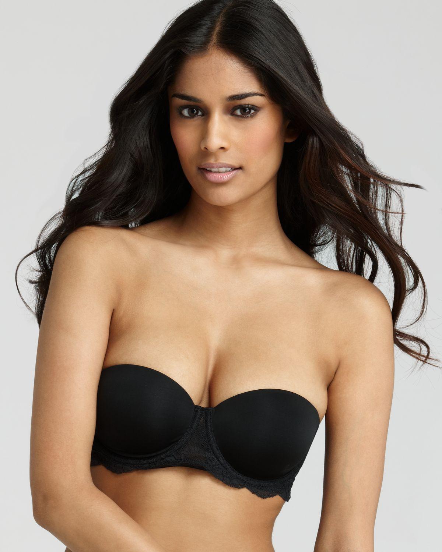 53a9d39828 Calvin Klein Strapless Bra Womens Seductive Comfort Lace Basic in ...