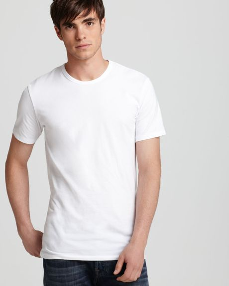 Calvin Klein Stretch Crewneck Undershirt, Pack Of 2 in White for Men