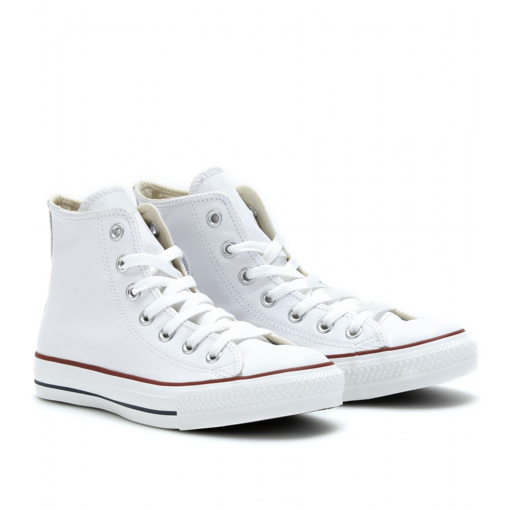 converse chuck taylor all star high in white lyst. Black Bedroom Furniture Sets. Home Design Ideas