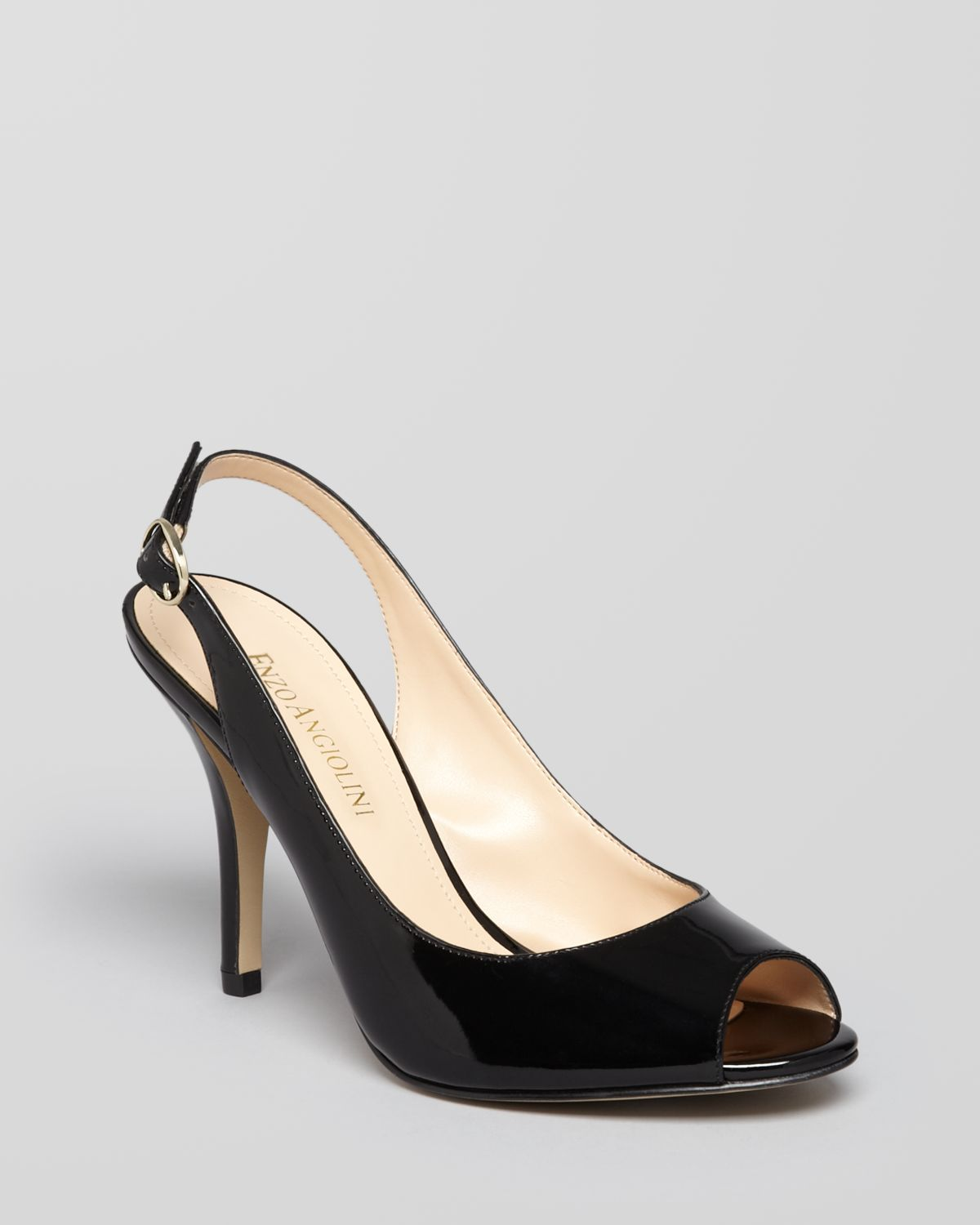 Lyst - Enzo Angiolini Pumps Mykell Peep Toe Slingback in Black 69e8bbe8d0