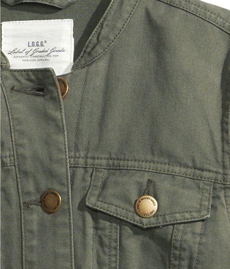 twill jacket h&m