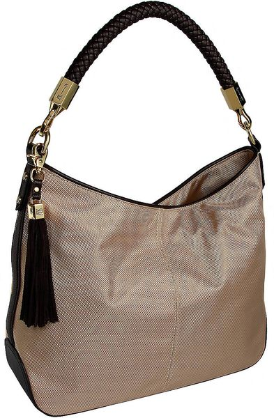 Jpk Paris Nika Ballistic Nylon Hobo Bag in Brown (almond)