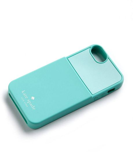 Kate Spade Silicone Card Slot Iphone 5 Case in Green (seaglass) : Lyst