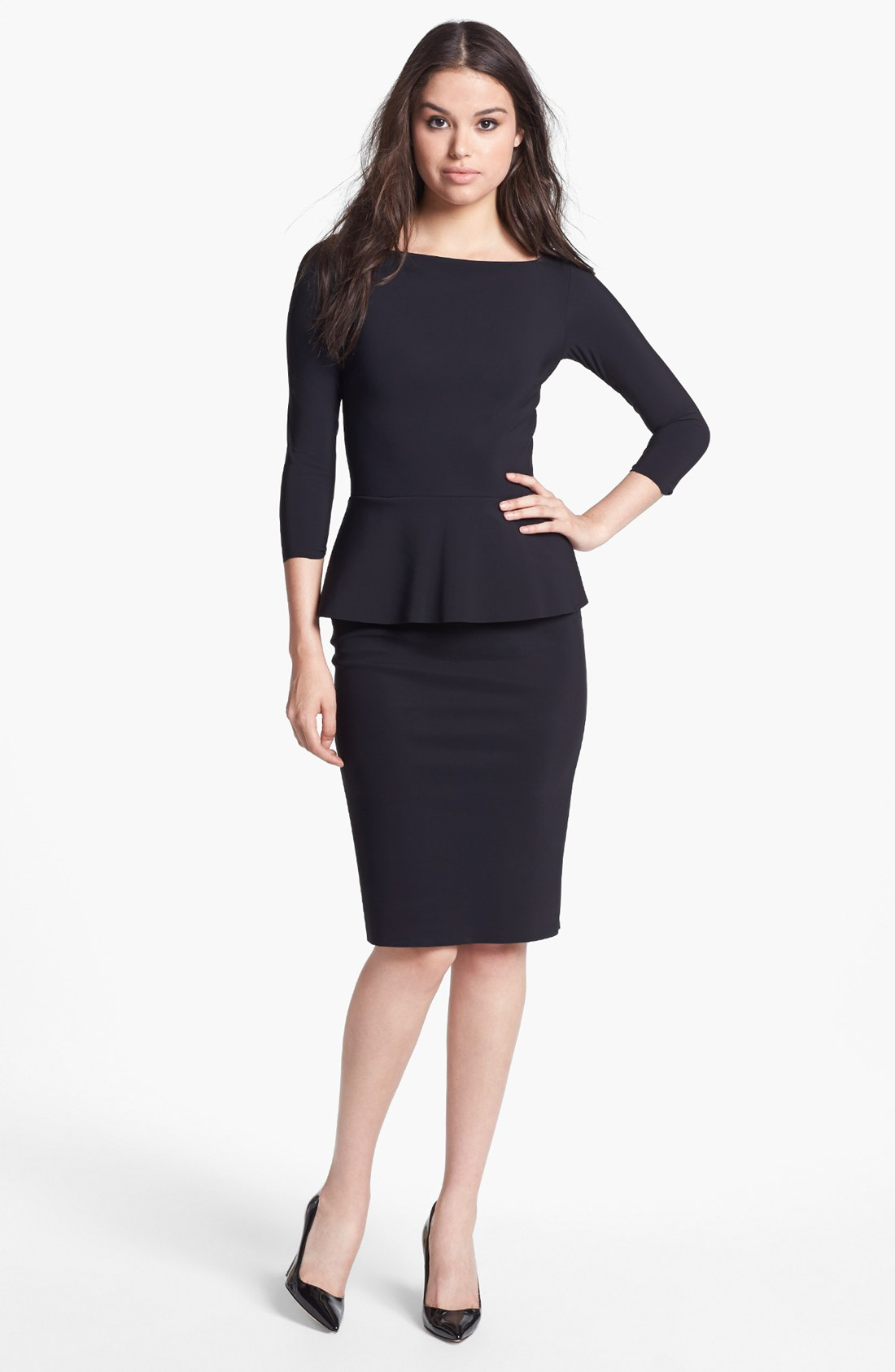 Chiara Boni The Most Popular Dress In America: La Petite Robe Di Chiara Boni Peplum Sheath Dress In Black