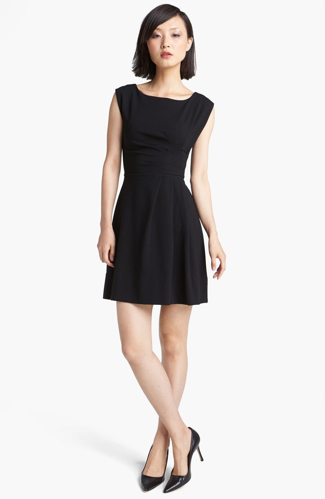 Marc By Marc Jacobs Sophia Ponte Fit Flare Dress In Black