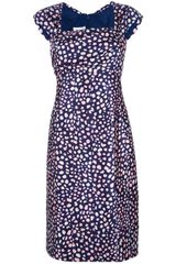 Oscar de la Renta Pebble Print Dress - Lyst