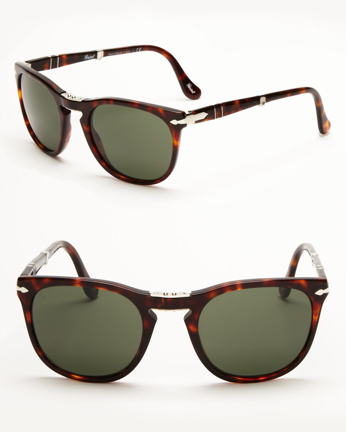 221ab12774 Persol Folding Keyhole Sunglasses in Brown for Men - Lyst