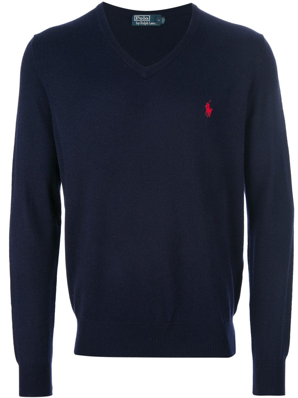 2ec9fd70b11d ... coupon for lyst polo ralph lauren vneck sweater in blue for men 19efd  a33bc