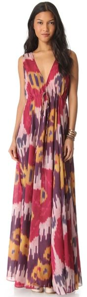 Rachel Pally Long V Neck Caftan - Lyst