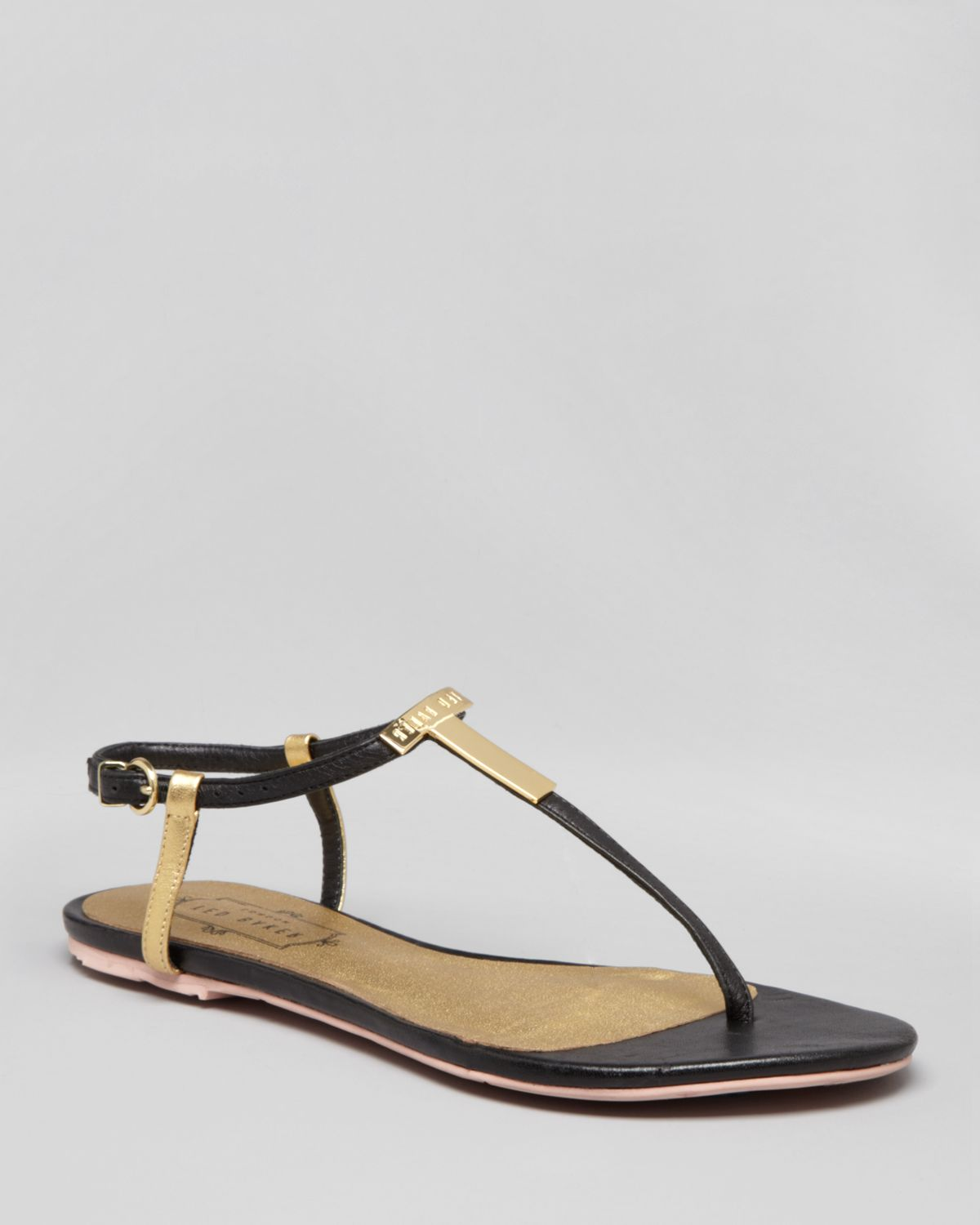 f31ebfec987f78 ... Ted Baker Logo Flat Thong Sandals Reveera in Black - Lyst exquisite  style 44642 e11f8 ...