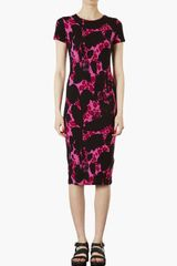 Topshop Abstract Print Bodycon Dress - Lyst
