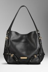 Burberry Small Leather Tote Bag - Lyst