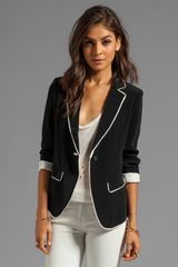 Elizabeth And James Alma Blazer in Black - Lyst