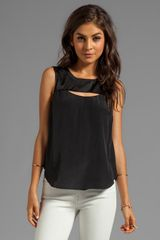 Elizabeth And James Lana Top in Black - Lyst