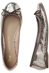 Gap Leather Ballet Flats - Lyst
