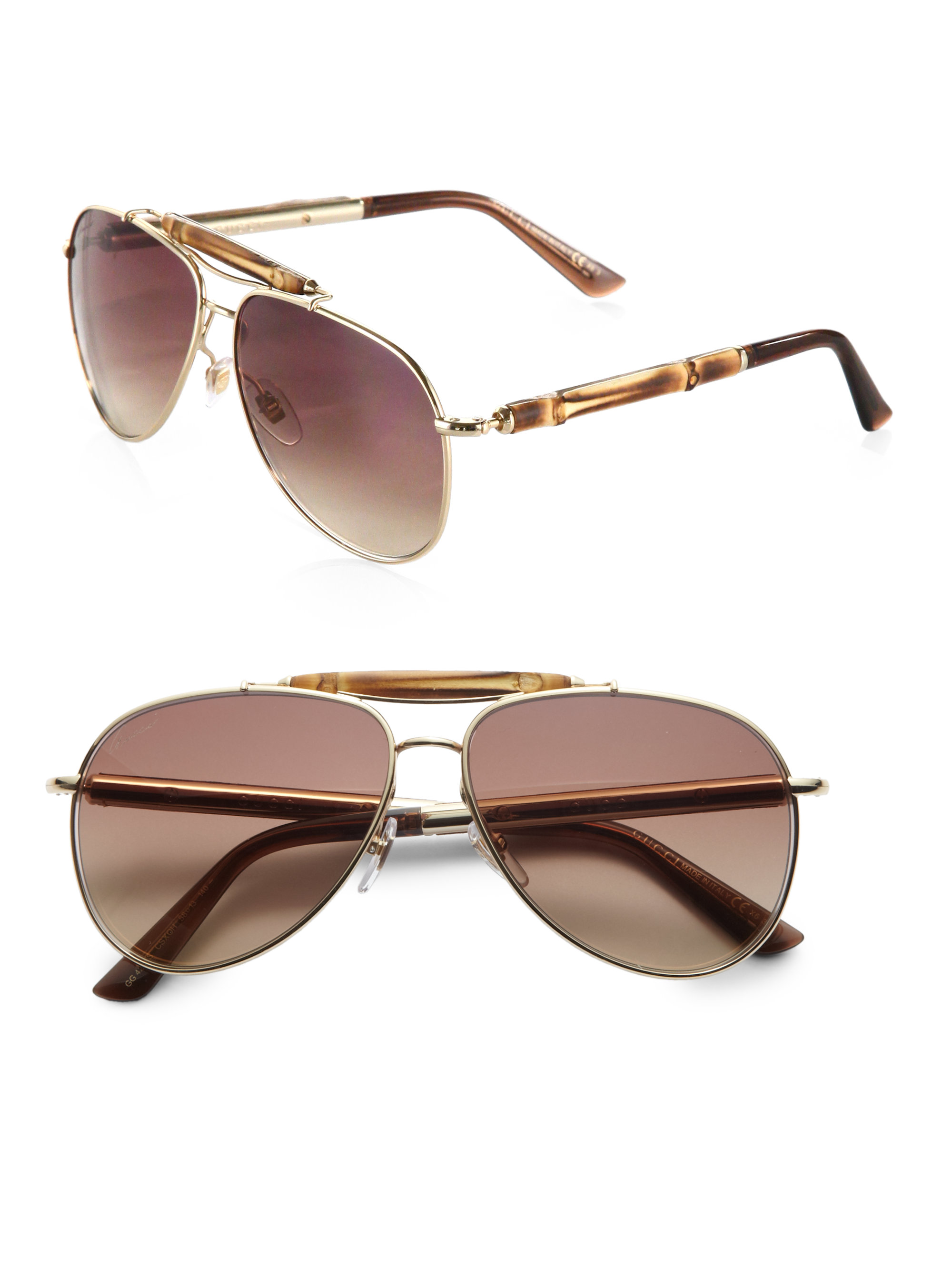 9fcc04c6862 Gucci Aviator Sunglasses With Bamboo – McAllister Technical Services