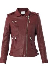 Iro Han Leather Biker Jacket - Lyst