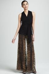 Kay Celine Lucy Animal-print Pants - Lyst