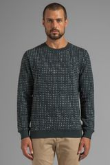 Marc By Marc Jacobs Enzo Star Sweatshirt in Dark Green - Lyst