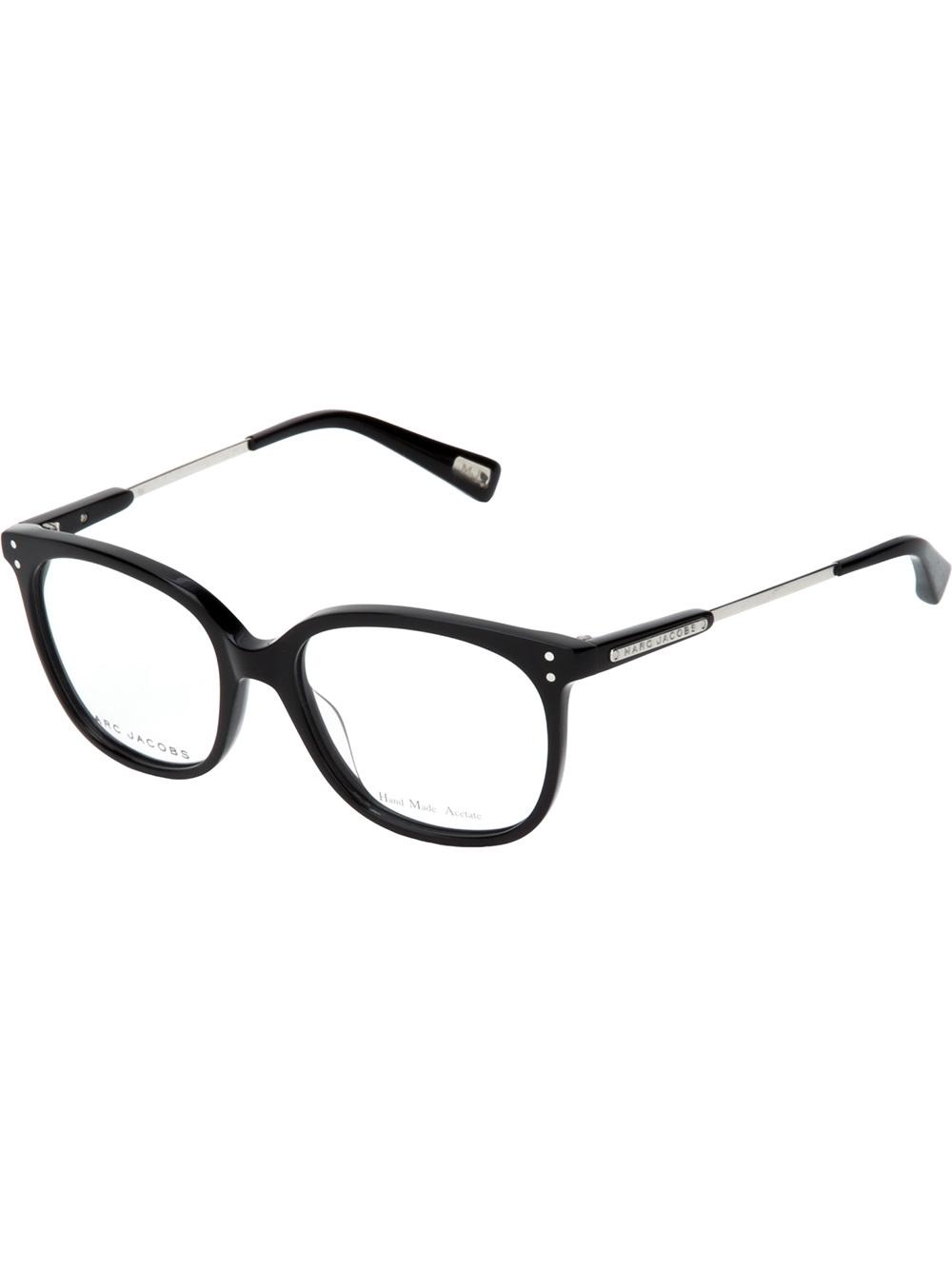 Frame Glasses Marc Jacobs : Marc jacobs Square Frame Glasses in Black Lyst
